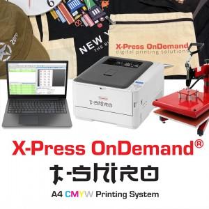 XPOD TSHIRO A4 Ultra CMYW White Toner Printing System